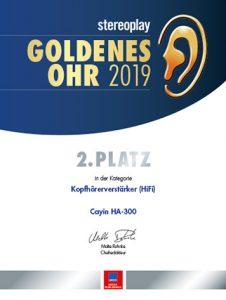 Stereoplay Goldenes Ohr Platz 2 Cayin HA-300 Kopfhörerverstärker