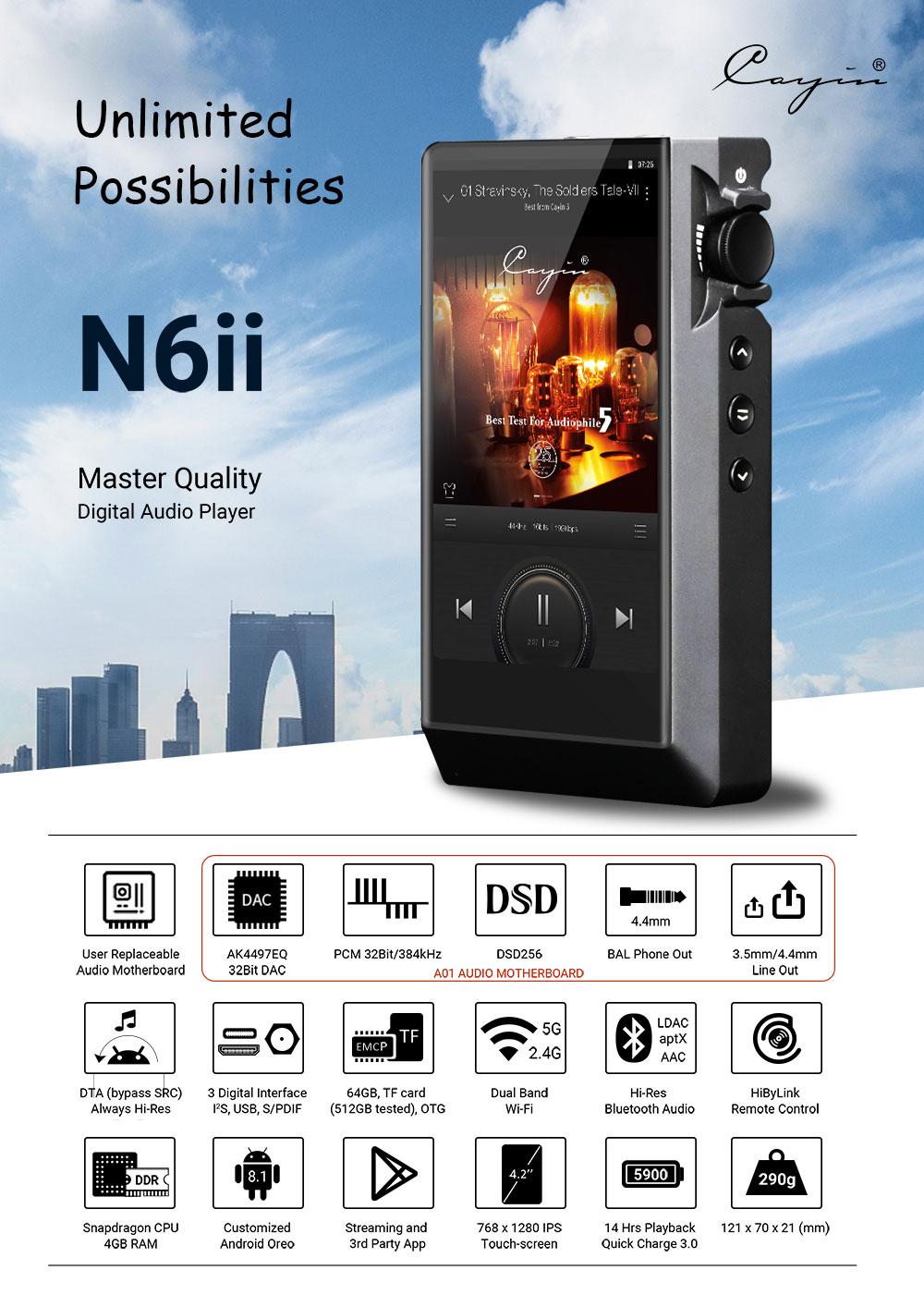 HR-Player_High-Resolution-Bluetooth MP3-Player High Res Player