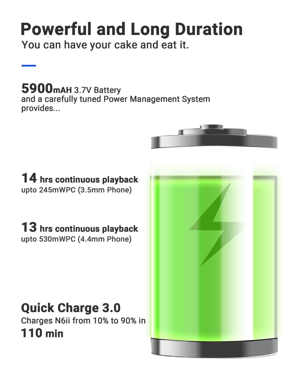Cayin High Res Player akku battery