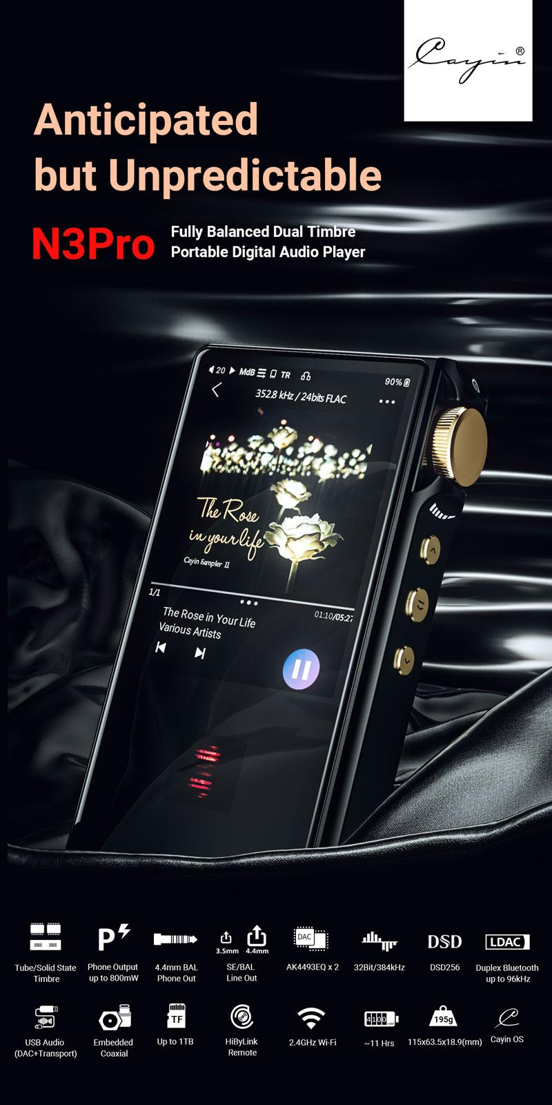 HR-Player_High-Resolution-Bluetooth MP3-Player Cayin N3-Pro Testsieger