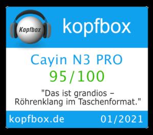 Kopfbox Test Cayin N3-Pro
